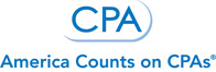CPA Logo: America Counts on CPAs